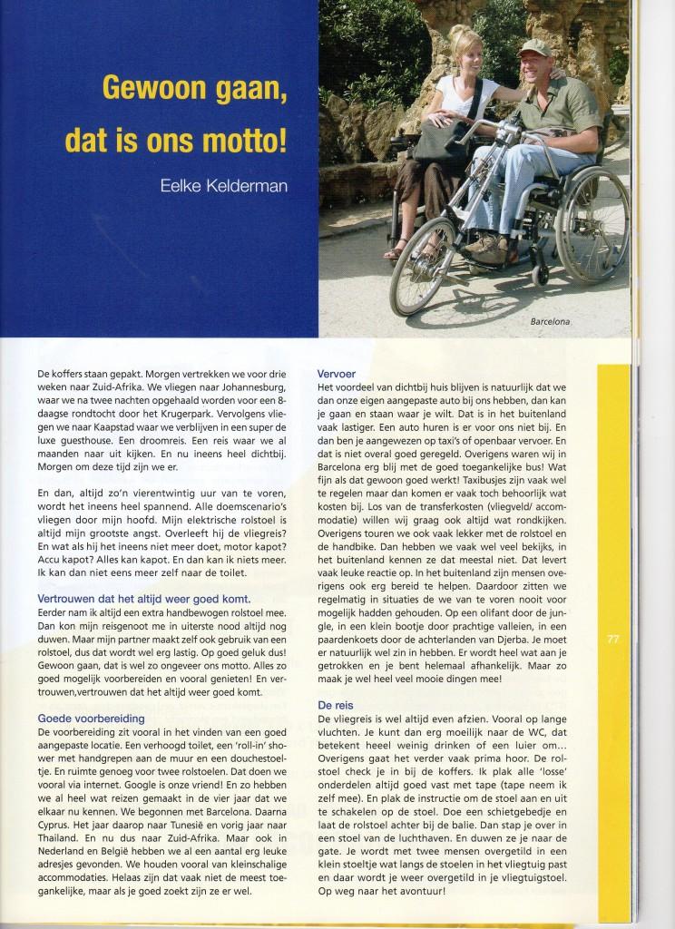 artikel Blauwe gids 2009