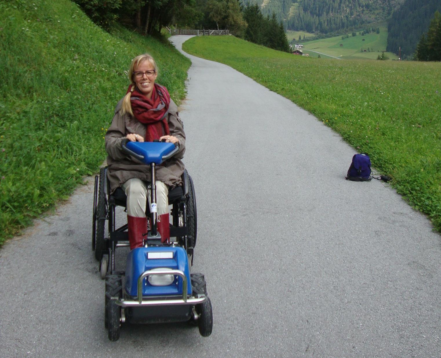 In de bergen met de Swiss-trac