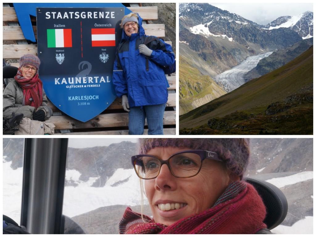 In Italië en Oostenrijk op ruim 3100 meter hoogte bij Karlesjoch/Kaunertal.