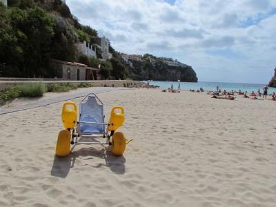 Strandstoel op Menorca