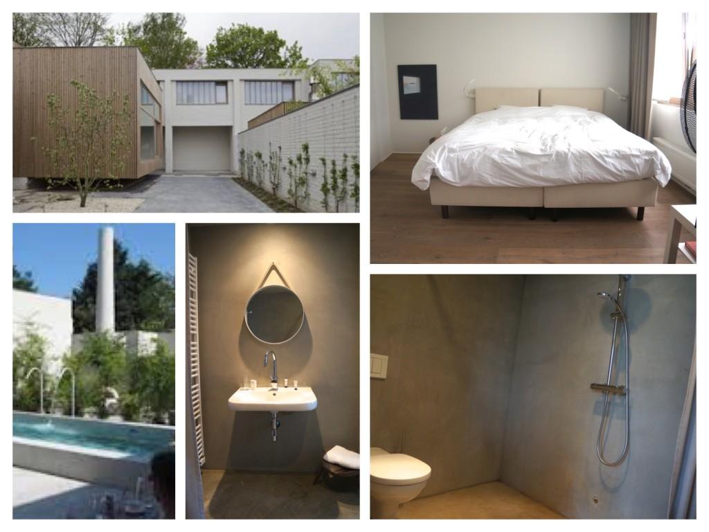 collage van foto's van hotel Wu wei in Kortrijk