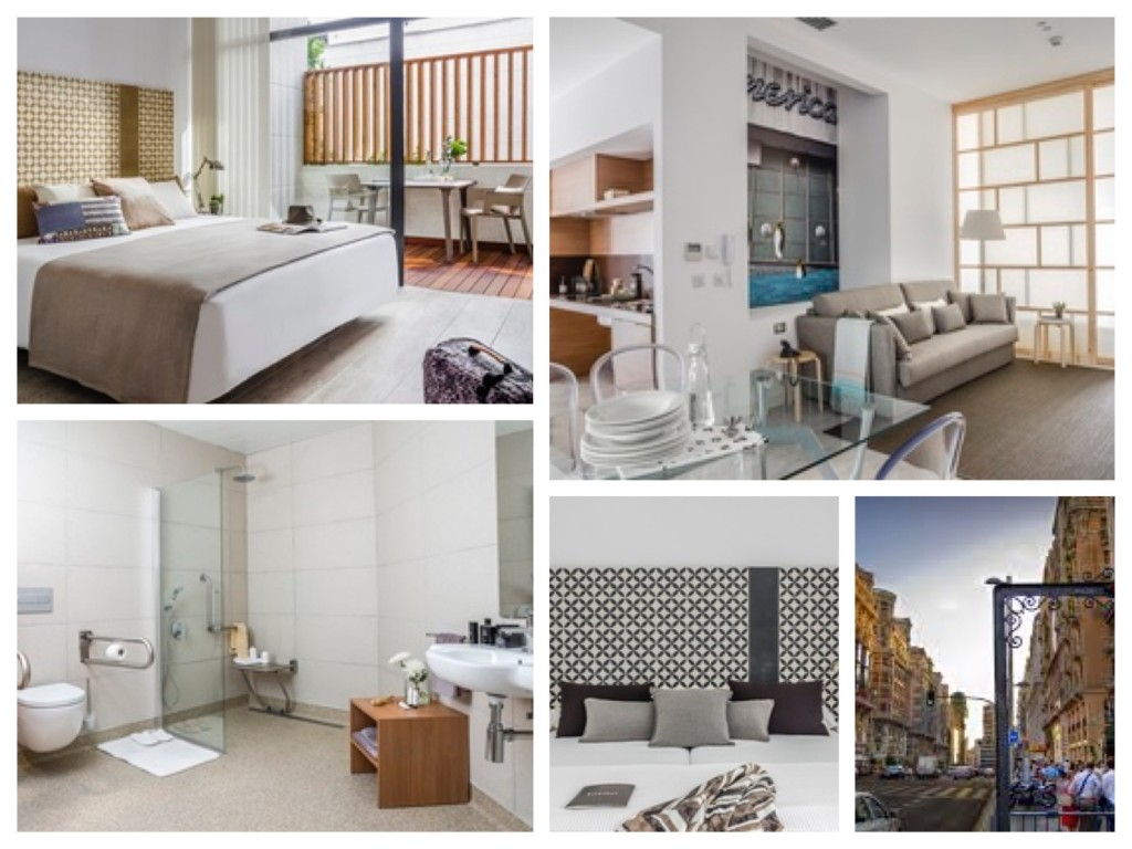 collage van foto's van het appartement