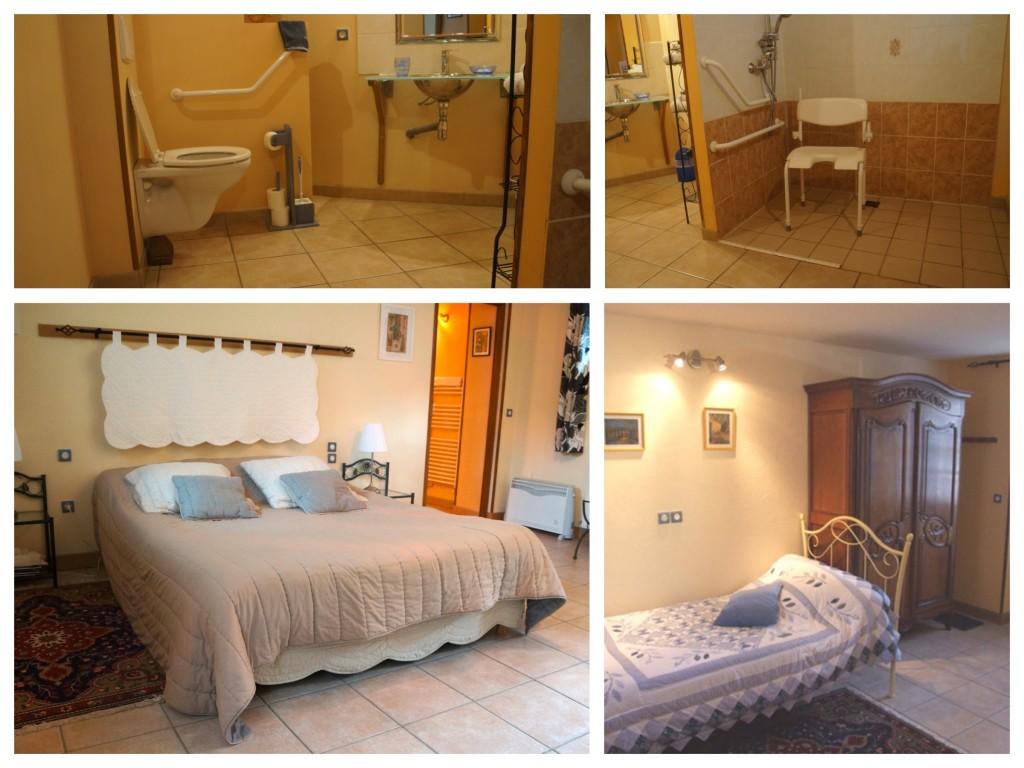 foto van de (bad)kamer bij Le Clos du Quesnay