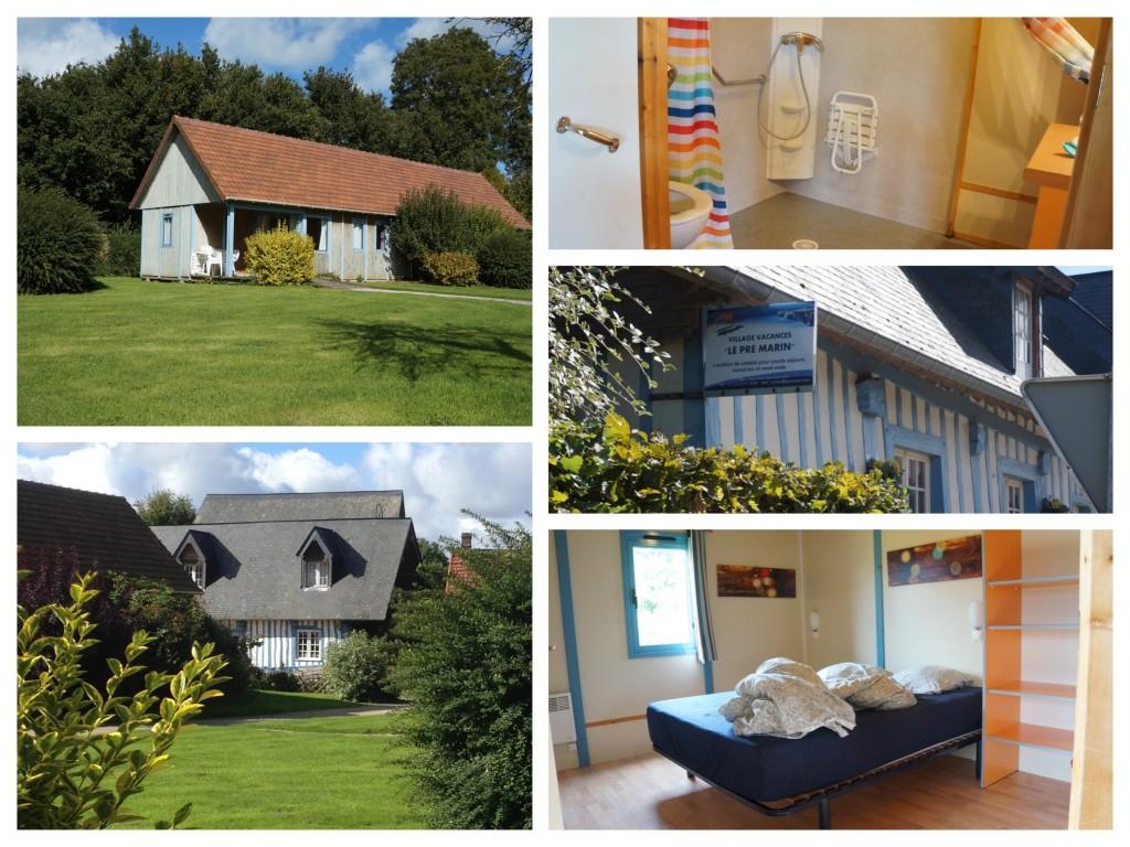 collage van foto's bij Huisje bij Le Pré Marin in Sotteville-sur-mer