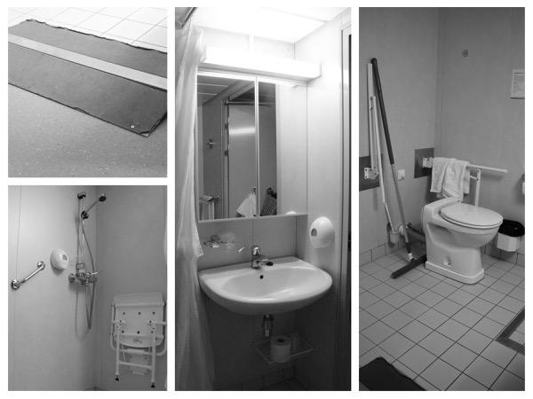 collage van foto's van de badkamer